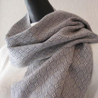 Merino Wool Scarf - Denim Blue