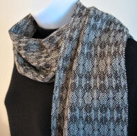 Merino wool scarf - Raw Umber - Winter