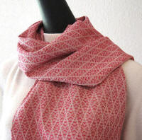 Red Merino Wool Scarf